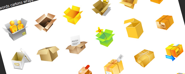 Cartons, fruit, money, packaging vector