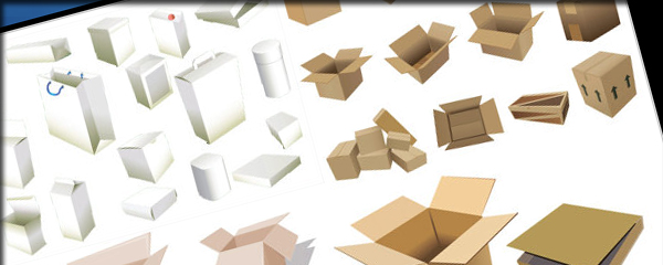 Boxes and cartons - Vector