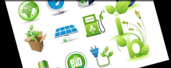 Green theme icon vector material