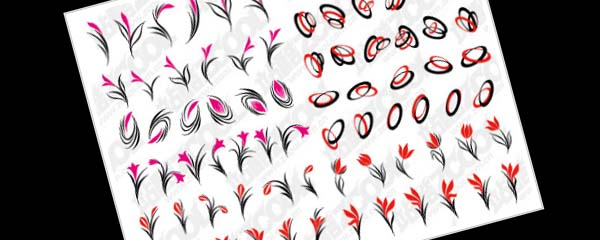 Simple flowers vector graphics material