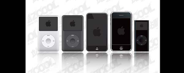 Apple iPod & iPhone product vector material