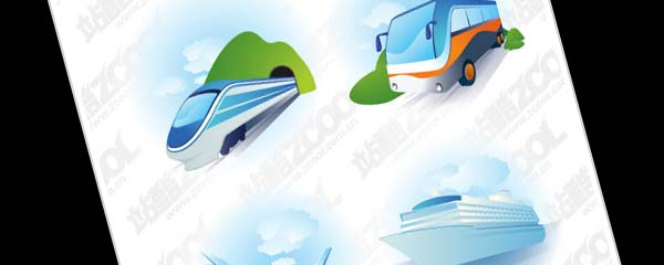 Transport icon vector material