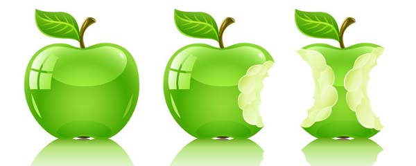 Green Apple vector material