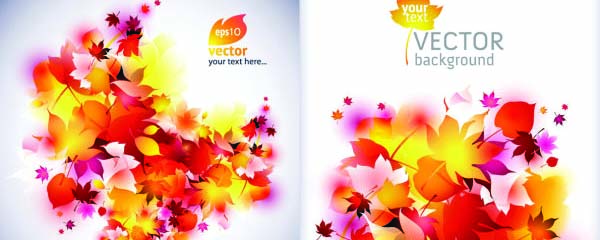 Free Vector Autumn Dream Greeting Card Design