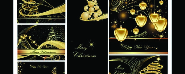 Free Vector Christmas Cards for Your Design Use.