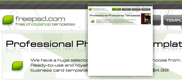 Green & Grey Free Photoshop Template