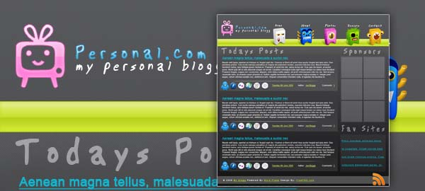 My Personal Blog Free Photoshop Template