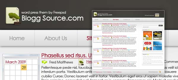 Blog Source Free Photoshop Template