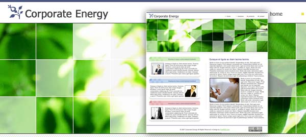 Corporate Energy Free Photoshop Template