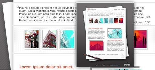 Drafting Company Free Photoshop Template