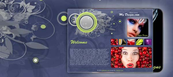 My Designs Free Photoshop Template