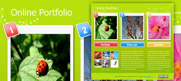 Online Portfolio Free Photoshop Template
