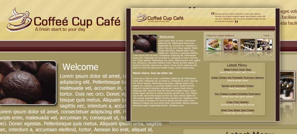 Coffee Club Free Photoshop Template