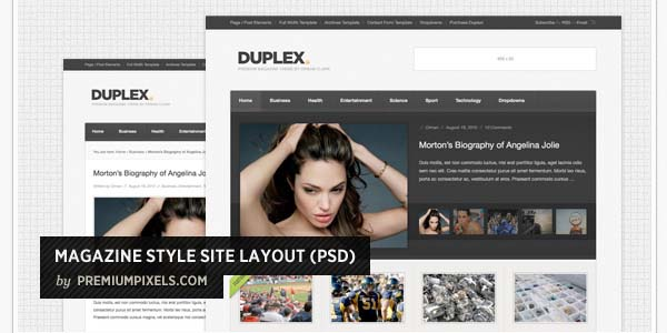 MAGAZINE STYLE SITE LAYOUT (PSD)
