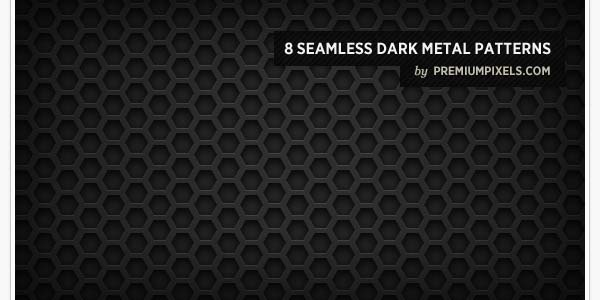 "8 SEAMLESS ""DARK METAL GRID"" PATTERNS"