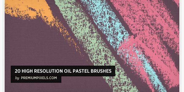 20 HIGH RESOLUTION OIL PASTEL BRUSHES