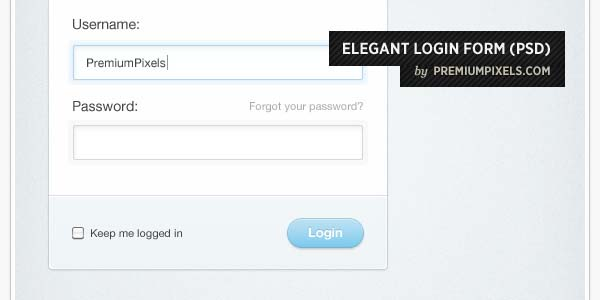ELEGANT LOGIN FORM DESIGN (PSD)