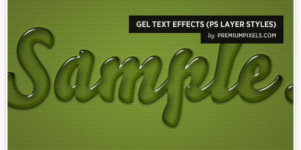 GEL TEXT EFFECTS (PS LAYER STYLES)