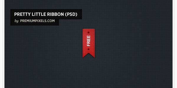 PRETTY LITTLE RED RIBBON (PSD)