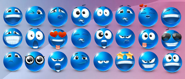 Very emotional emoticons 40 smilies