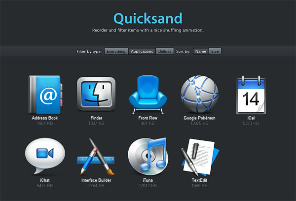 Quicksand jQuery Plugin
