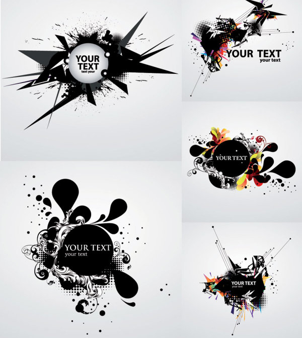 VECTOR BACKGROUND OF THE INK FLOW DYNAMIC