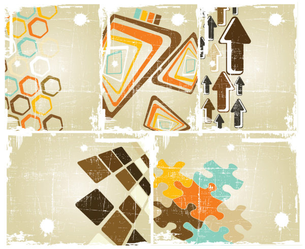 MATERIAL RETRO VECTOR BACKGROUND OF OLD POSTERS