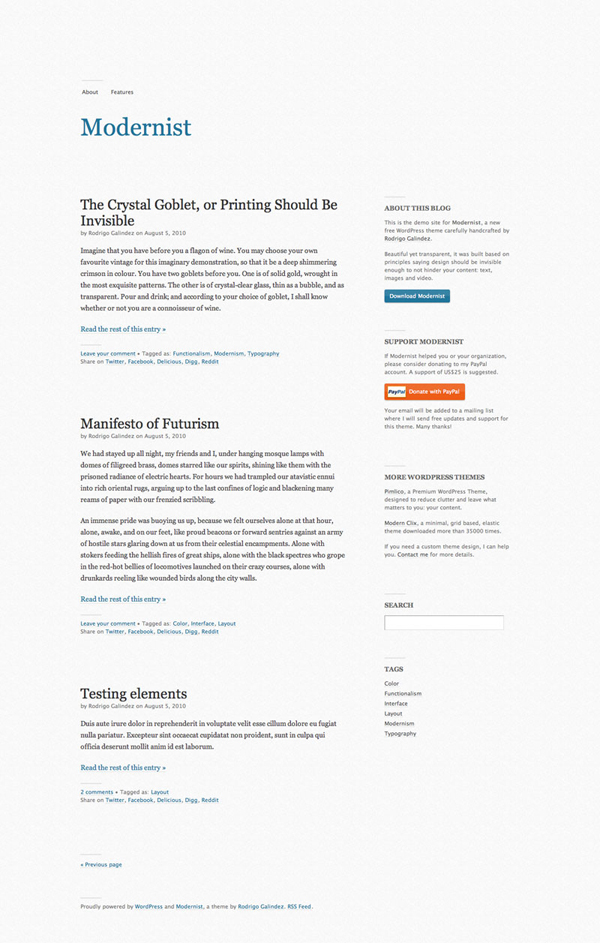 Free WordPress Theme with Focus on Typography