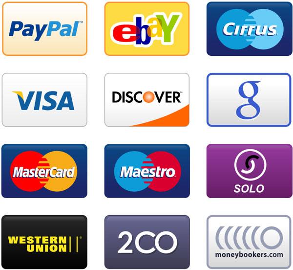 Free PNG Credit Card, Debit Card and Payment Icons Set (18 Icons)
