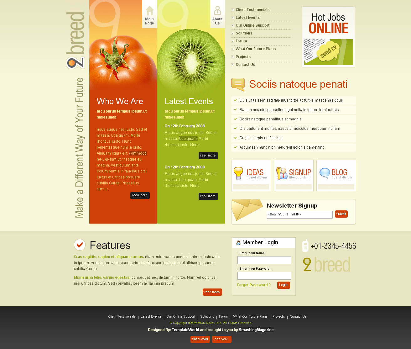 2 Breed Free Website Template