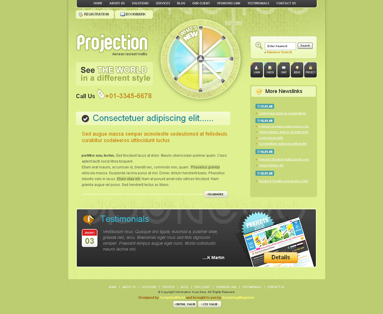 Company Free Website Template