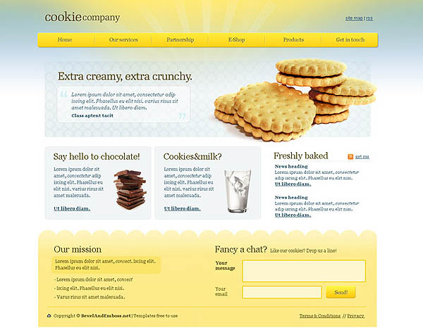 Cookie website template