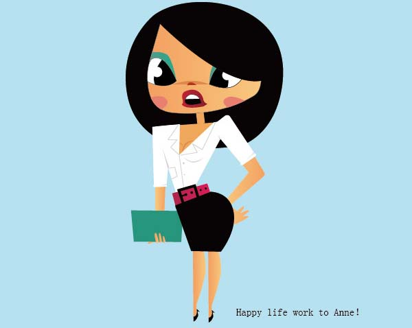 Vector Cartoon Women Illustration