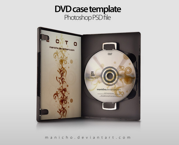 DVD Case Template (PSD)
