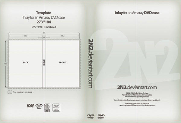 CD / DVD Case Template (PSD)