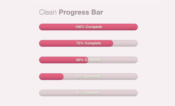 Pink Progress Bar psd file 
