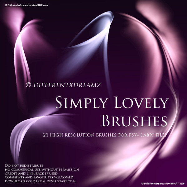 Beautiful light PHOTOSHOP brushes! 