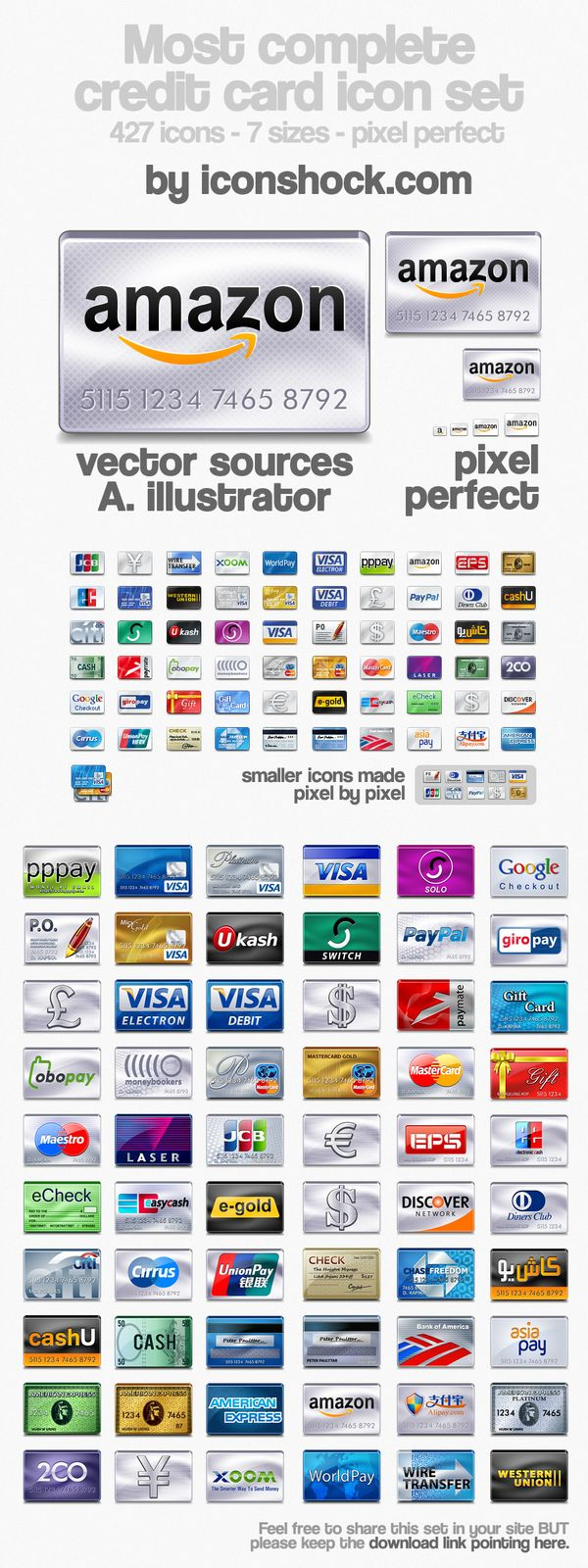 Free Credit Card Icons Pack: 457 Payment and Credit Card Icons