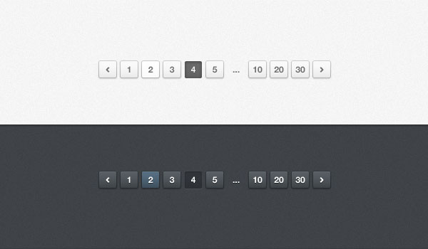Light and Dark Website Pagination (PSD)
