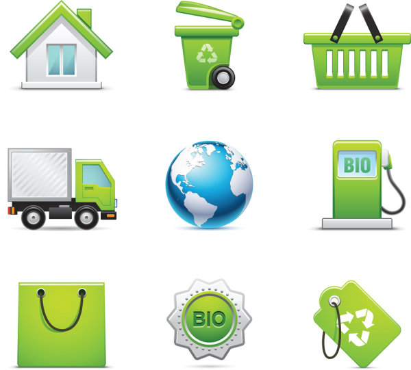 Greeny Icons Vector Set