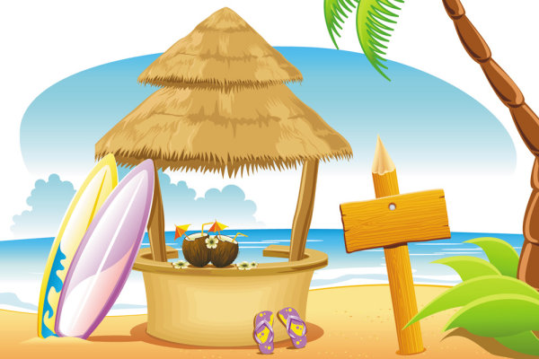 Coast & Shore Illustration - Free Vector Design