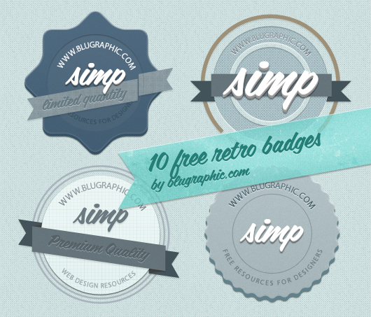 Badges Pack by Blugraphic.com