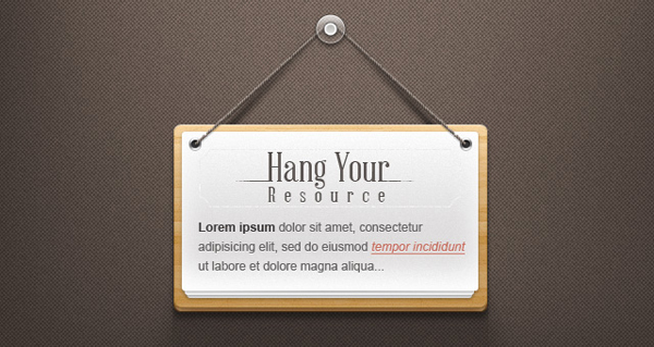 Note Hanging Made of Wood - Psd