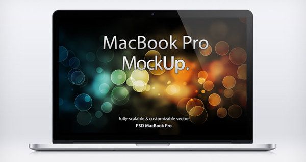 Mac Laptop Mockup - Psd