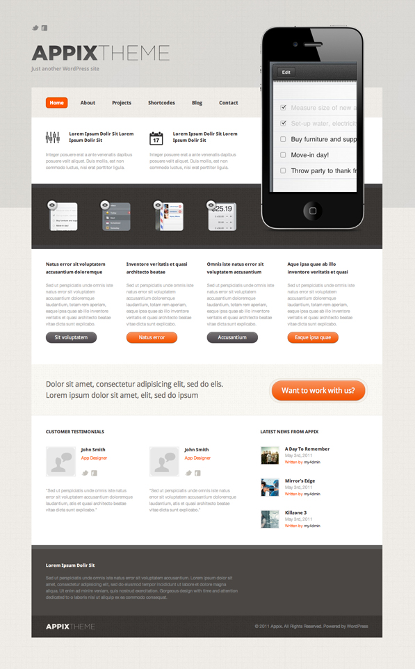 Product Website Home Page Freebie (psd)