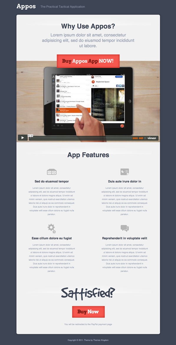 Appos Home Page Freebie (psd)