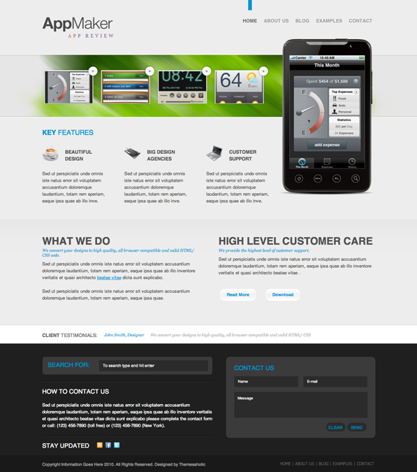 AppMaker Home Page Freebie (psd)