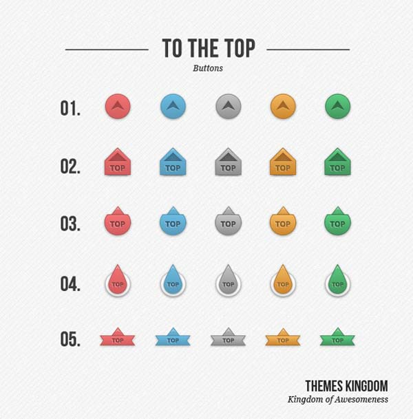 Simple To the Top buttons  Freebie 