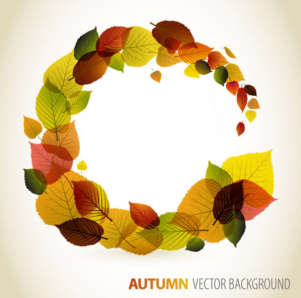 Autumn Leaves Vector Border