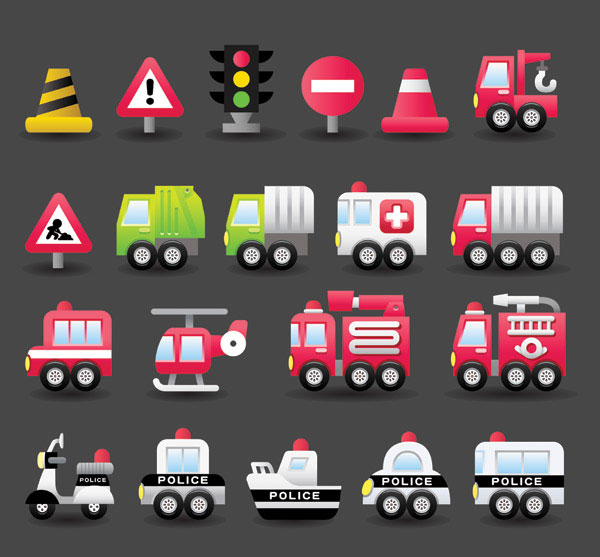 Vehicle  Icon Set (Vector ai)